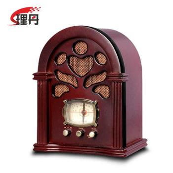 LEETAC/理丹 L602 送礼佳品仿古收音机 复古台式老人收音机 木质