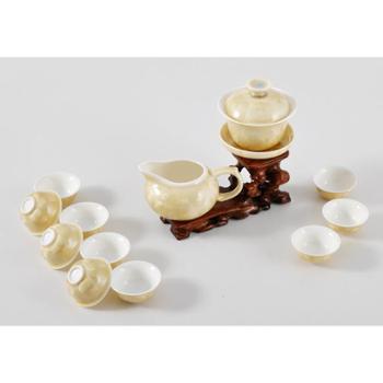 新品,黄色结晶釉 茶具套装 功夫茶具 皇家风范