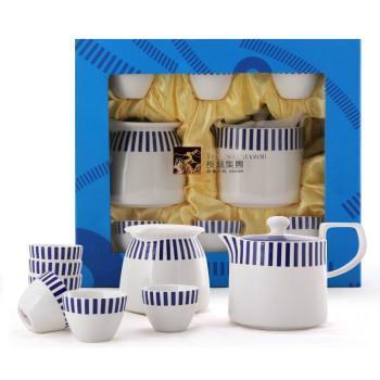 长城 地中海风情咖啡具7头高档陶瓷茶具套装 送礼佳品