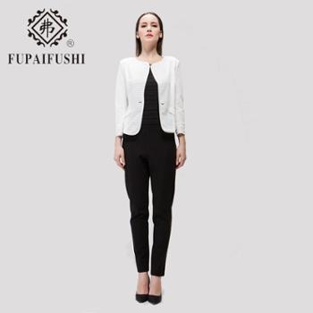 弗牌2015春装新款女装镶边修身九分袖短外套女短款上衣FCS-51232
