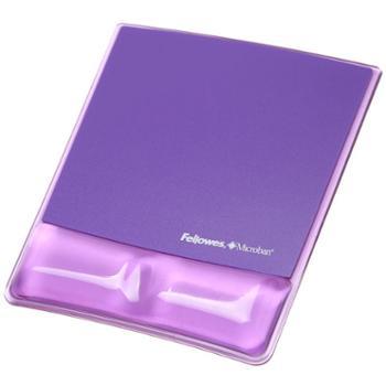 范罗士(FeIlowes) CRC91835 水晶硅胶鼠标垫 (魅惑紫)