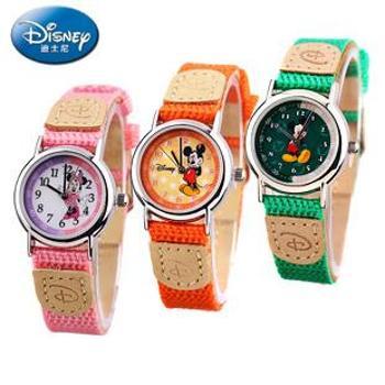 ★欢乐总动员★DISNEY迪士尼10352米奇双圈数字双色皮带儿童认知手表PC21J机芯