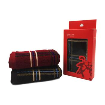 金号毛巾维多利亚系列双条毛巾彩盒装HY1014-2