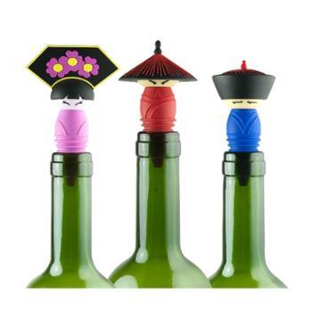 北京礼物 官帽红酒瓶塞食品级硅胶材质创意葡萄酒密封塞