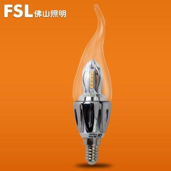 FSL佛山照明小螺口E14百合拉尾泡LED拉尾灯LED节能灯泡LED灯泡经济光源5W