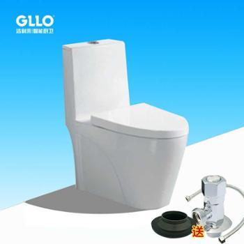 GLLO洁利来新款超漩虹吸陶瓷连体抽水马桶770X680