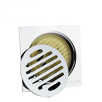 GLLO洁利来 卫生间浴室不锈钢黄铜防臭洗衣机下水地漏 100X100