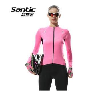 Santic森地客 2015年春女式长袖骑行服防晒透气骑行上衣简爱L5C01056P