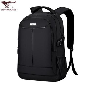 包邮七匹狼双肩包男士背包女韩版中学生书包休闲旅行包商务电脑包男包
