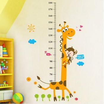 卡通儿童宝宝墙纸贴画墙贴测量身高贴纸可移除