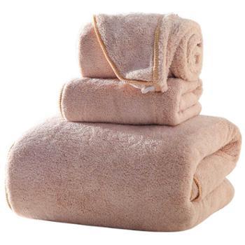 包邮成人吸水浴巾毛巾浴帽三件套加厚柔软不易掉毛套装