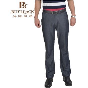 法国拜邦 男装时尚休闲棉质无褶牛仔裤FG1B-318 29