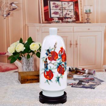 瓷博景德镇瓷器花瓶摆件工艺品多子多福中式传统家居客厅送长辈