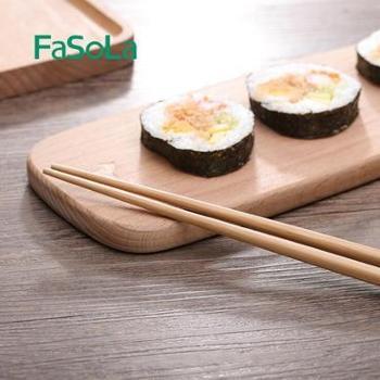 FaSoLa楠木竹筷(5双装)天然无漆无蜡 筷子套装家庭装(买一赠一)