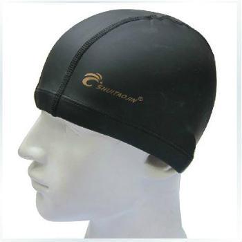 水淘金时尚纯色PU游泳帽防水不勒头舒适无束缚环保开业特价装备