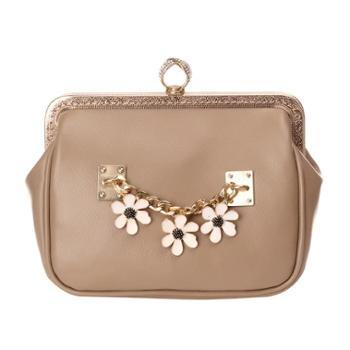 时尚气质雏菊包包OL背包手拿包两色可选