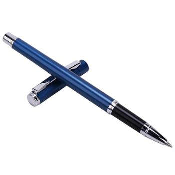 得力S82金属中性笔 商务签字笔黑色0.5mm水笔创意文具 1支装
