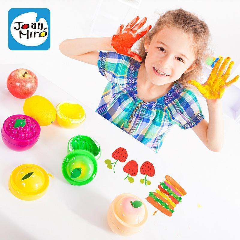 美乐儿童手指画套装 印泥 彩色颜料 缤纷水果绘画工具套装创意画