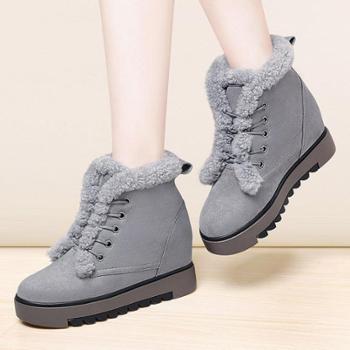 莫蕾蔻蕾新款雪地靴女靴韩版马丁靴冬季加棉短靴女棉鞋7027