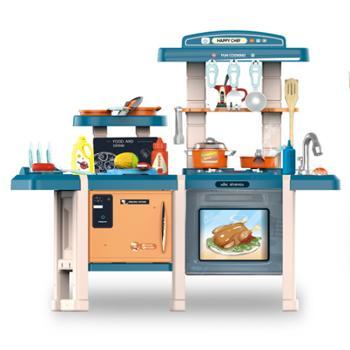 育儿宝 儿童厨房玩具套装厨具餐具女孩益智过家家餐台厨台煮饭玩具703