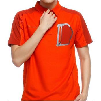 Toread探路者短袖透气翻领男士夏季特价新款速干T恤TAJB81040