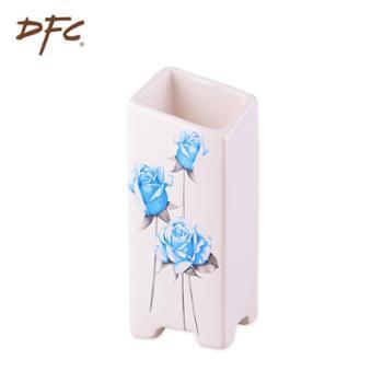 DFC陶瓷器花瓶 时尚蓝玫瑰白色大花瓶 家居客厅装饰摆件礼品