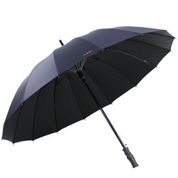 天堂伞 加大加固16骨强抗风一甩干碰击布黑胶自开商务直杆高尔夫晴雨伞太阳伞 10009ELCJ
