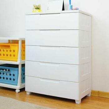爱丽思抽屉式收纳柜密闭塑料床头整理柜衣柜储物柜五斗橱柜MG-725