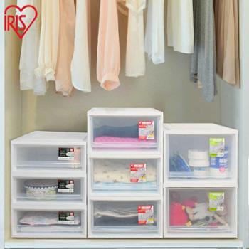 买二赠一爱丽思抽屉式塑料大号透明整理箱衣柜衣服储物箱收纳箱BC-500