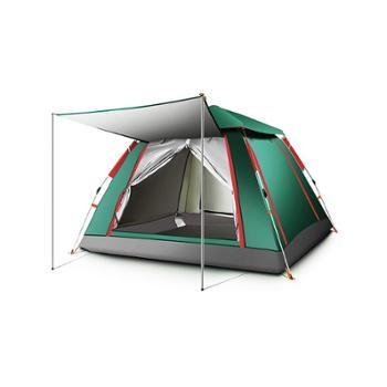 探险者帐篷户外野营加厚速开沙滩露营防暴雨账蓬单双4-6人全自动