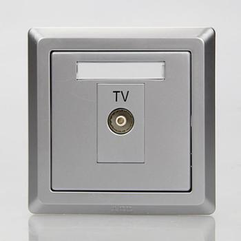 ABB单电视插座EWA徳逸equip系列一位电视插座