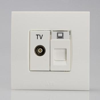 ABB二位电视/电脑插座EWA由艺Uni-art系列