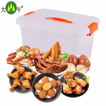 大午休闲鸡肉零食大小鸡腿鸡脖翅尖零食组合828g共25个赠收纳箱