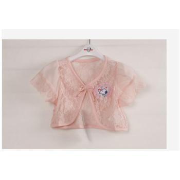 夏装新款史努比童装正品2ss40755女童针织短袖外套小披肩