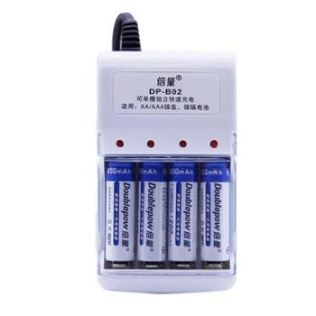 倍量充电电池套装:1.2V可充5号7号电池AA五号1000充电电池