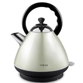 优益/Yoice 电热水壶304不锈钢自动断电家用保温烧水壶 2L