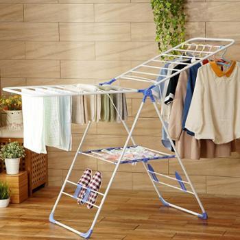 欧润哲 晾衣架落地折叠 室内室外 翼型阳台晒衣架 简易婴儿尿片架