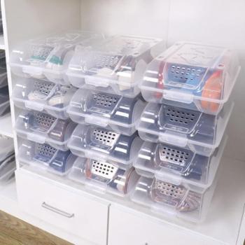 艾多6只装收纳家用组合装鞋子整理盒透明鞋盒塑料收纳盒整理箱