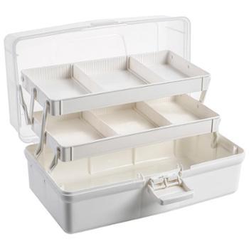 艾多 大号多层家用药品分类整理收纳箱 1只装