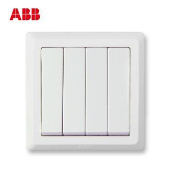 ABB德逸四位单控开关AE10410AX