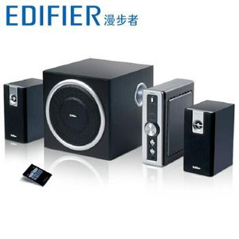 Edifier 漫步者C2台式电脑音箱低音炮 独立功放2.1 遥控音响正品