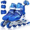 侨丰溜冰鞋儿童成人套装 可调旱冰鞋 滑冰鞋全套装闪光轮滑鞋包邮