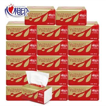 [部分包邮]心相印抽纸面巾纸红悦卫生纸3层130抽x6包x2提 (2提12包)