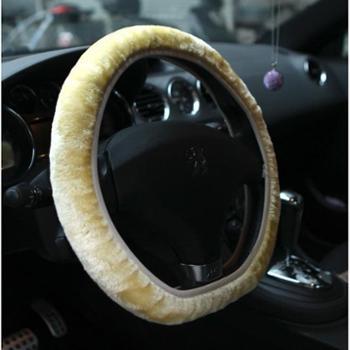 秋冬季短毛绒方向盘套汽车把套毛绒防滑方向盘套