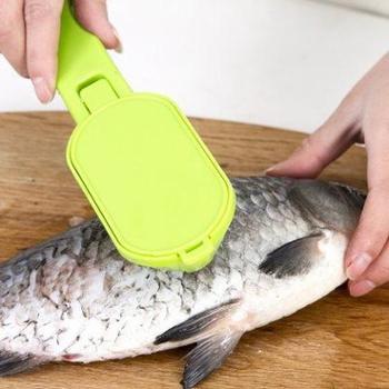 淘乐士创意厨具杀鱼器杀鱼刀二合一鱼鳞刨带盖刮鱼鳞器2个装