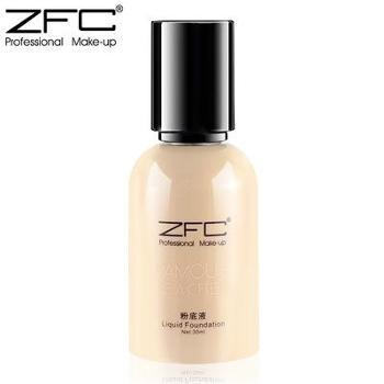ZFC润颜无痕粉底液正品名师系列专业彩妆*滋润美白遮瑕粉底液