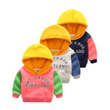 宝宝卫衣男春秋加绒外套男童秋装新款套头绒衣儿童上衣秋季