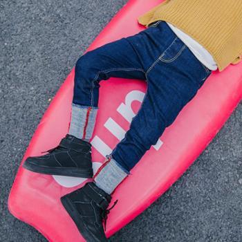 冬季新款男童裤子儿童高弹裤修身加厚铅笔裤百搭宝宝休闲裤子