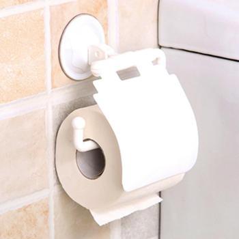 创意浴室吸盘厕所盒卫生间无痕防水纸巾架卷纸架卫生纸卷纸筒