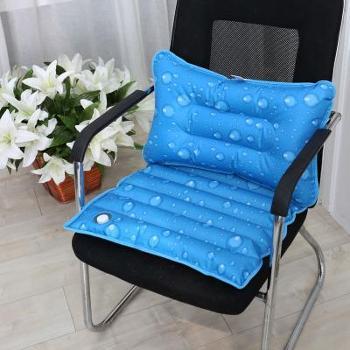 (日常居家生活用品)汽车通用冰垫组合垫水枕头夏季降温学生午睡枕凉枕冰枕水坐垫一体垫